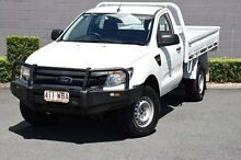 2012 Ford Ranger PX XL White 6 Speed Manual Cab Chassis Main Beach Gold Coast City Preview