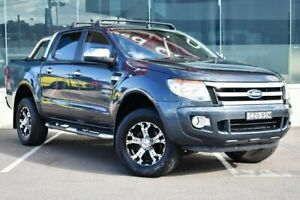2014 Ford Ranger PX XLT Double Cab Grey 6 Speed Sports Automatic Utility Cardiff Lake Macquarie Area Preview