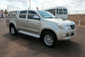 2014 Toyota Hilux KUN26R MY14 SR5 Double Cab Sterling Silver 5 Speed Automatic Utility The Gardens Darwin City Preview