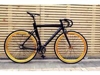 Goku cycles single speed bike fixed gear racing fixie track bike brand new aluminium frame bicycle j