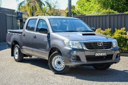 2013 Toyota Hilux KUN16R MY12 SR Double Cab Grey 5 Speed Manual Utility