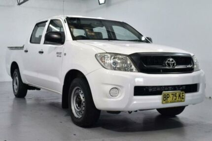 2010 Toyota Hilux GGN15R SR White Automatic Utility