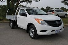 2012 Mazda BT-50 UP0YD1 XT 4x2 White 6 Speed Manual Cab Chassis Kenwick Gosnells Area Preview