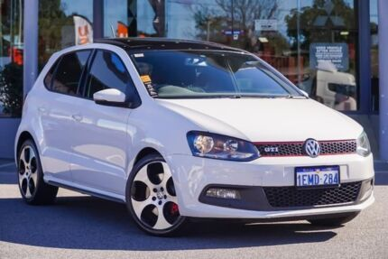 2014 Volkswagen Polo 6R MY14 GTI DSG White 7 Speed Sports Automatic Dual Clutch Hatchback Myaree Melville Area Preview