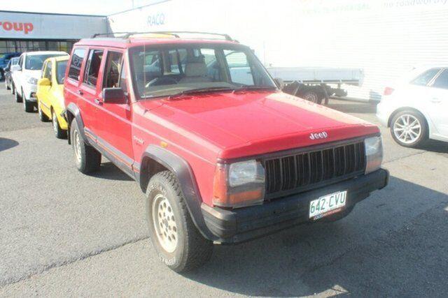 1995 Jeep Cherokee XJ Sport Red 4 Speed Automatic Wagon
