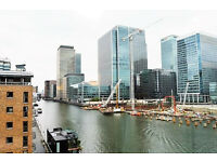 LUXURY BUT CHEAP TWO BED TWO BATH APARTMENT WITH BALCONY AND RIVER VIEW IN CANARY WHARF
