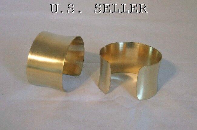 Brass Concaved Bracelet Cuff Blanks 1.5 inch Pkg Of 2