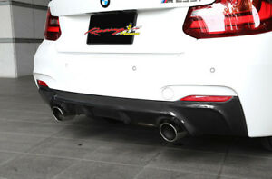 2014-17 Bmw F22 2-series 3D Style Carbon Fiber Rear Diffuser