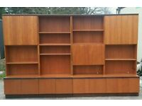 G plan wall units with cocktail bar cabinet shelves and cupboards