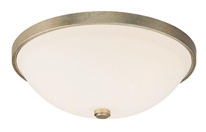 Capital Lighting 2323WG-SW Flush Mount Light, Winter Gold
