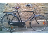 Classic Vintage dutch bike from Amsterdam Hand Made ,frame size 23inch - comfy city cruser - 3 speed