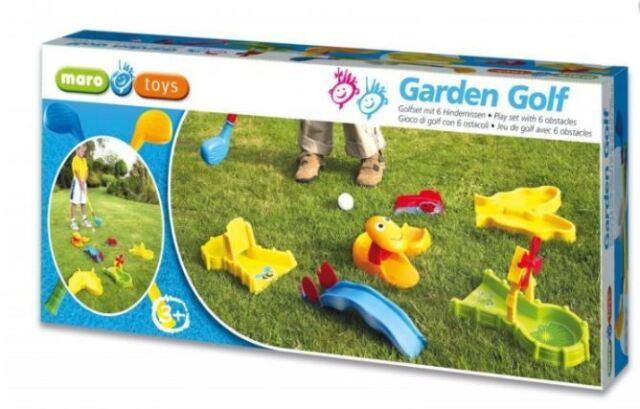 Maro Toys Garten Golf Kinder Golfset mit 6 Hindernissen Minigolf Outdoor Indoor