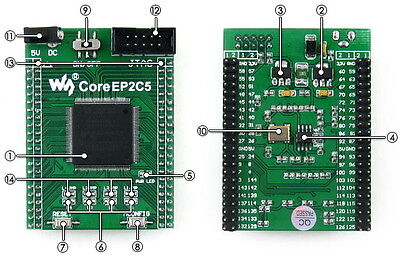 Altera Fpga Development Board Ep2c5t144c8n Ep2c5 Cyclone Ii Evaluation Kit
