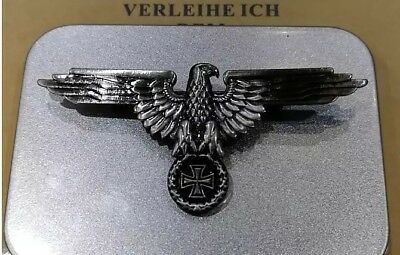 (Germany Iron Cross Medal World War German Empire Eagle Emblem With Safety-Pin)