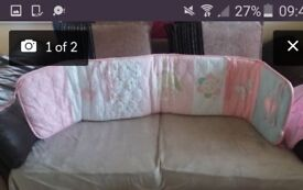 cotbed duvet and bumper set - immaculate condition