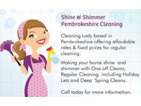 Shine & Shimmer Cleaning and pet walking services offered