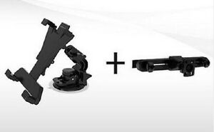 Universal Car Mount Holder Kit for Tablet (Suction Cup and Headr