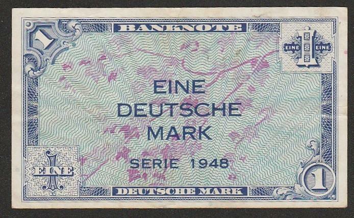 1948 GERMANY 1 MARK NOTE