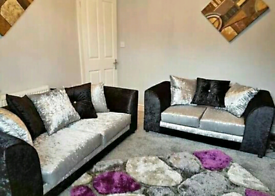 🍃🍁 BLACK AND SILVER COLOUR AVAILABLE IN CRUSH VELVET SOFA