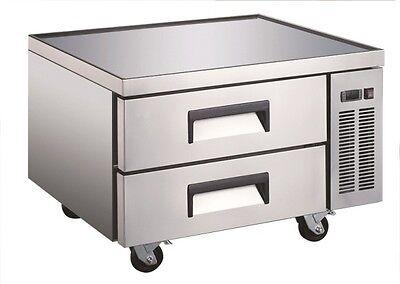 U-star Commercial 36 2 Drawer Chef Base Refrigerator Cooler Uscb-36