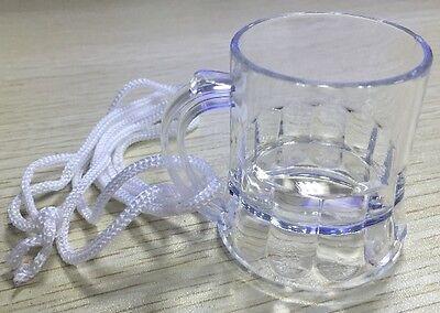 Schnapsgläser Bierkrug 4 cl Schnapsglas aus Kunststoff zum umhängen 2x 2er Set