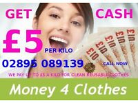 WANTED CLEAN USED CLOTHES AND PAY £5 A KILO