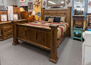 Hacienda Grande King Size Rustic Wood Bed