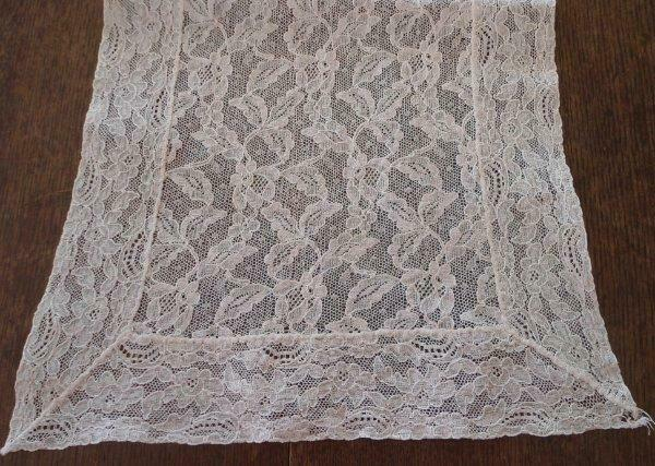 True Vintage Alencon Lace Table Runner Dresser Scarf Ivory Floral 40""