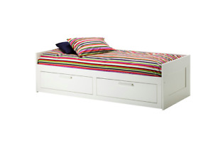 Ikea single bed with mattress - Brimnes Daybed frame