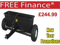 SEALEY SPD80T DROP SPREADER 80KG TOW BEHIND GRIT SALT DE ICER GRIT SEED SALT FERTILIZER