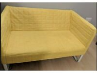 Must Go This Week -IKEA KNOPPARP Yellow Two Seat Compact Sofa - Cover Machine Washable