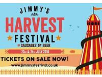 Jimmys Farm Festival Ticket for TODAY!!