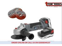 Sealey CP5418V Cordless Grinder 18v Lithium-ion & 10 Discs Metal Cut 2 Batteries