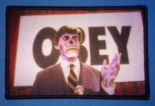 PATCH - They Live / OBEY - HORROR / Sci-Fi, 80s, cult movie, John Carpenter