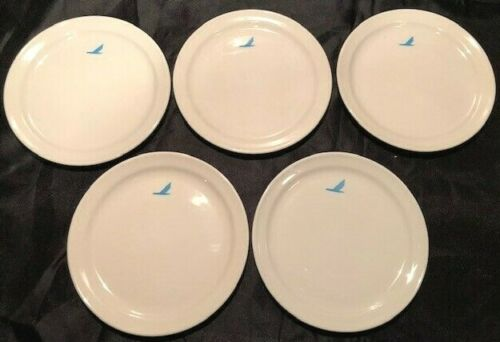 Set of 5 Vintage PIEDMONT Airlines Mayer China First Class Bread/Snack Plates