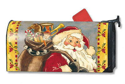 SANTA CLAUS St Nick Bag Toys Christmas Holiday Magnetic Mailbox Cover USA Made