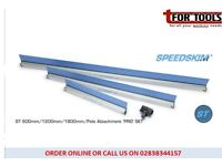 Set of 3 Speedskim® Plastering Rule feather edge 600, 1200, & 1800mm & Pole Attachment