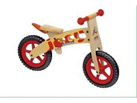 Wooden balance bike - joey by Hudora