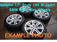 "Genuine BMW E90 M Sport Style 194 17"" Staggered Alloy Wheels 8J Fronts 8.5J Rears 5x120pcd CB72.6mm"