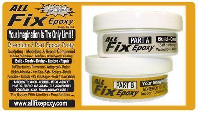 2 Part Epoxy Putty Waterproof Sculpting Modeling Repair Seal Bond Fix Fill Glue