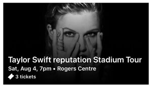 Taylor Swift Reputation Tour August 4 Lower Bowl