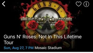 Guns N Roses (Regina 5th row floor seating)