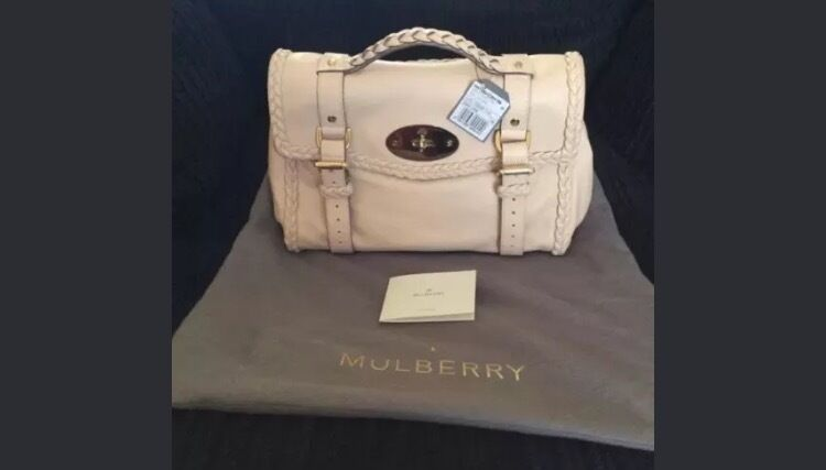 clearance mulberry shoulder bag 65694 e8dc1  coupon code for bnwt mulberry  alexa satchel in creamy pink with woven trim fb7ad 019d0 96704650c9