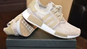 Adidas R1 NMDs in linen khaki
