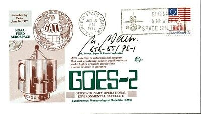 ULRICH WALTER Signed Cover - GOES-2