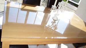 "tempered glass tops, strong, excellent condition, 1/4"" thick"
