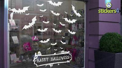 20 Halloween Bat Decal Clings (4