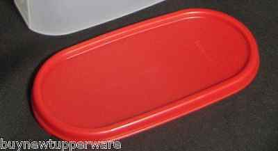 Tupperware Modular Mates Oval seal Popsicle Red Replacement Lid Brand New
