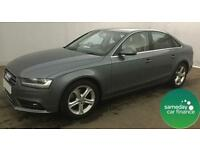 £318.72 PER MONTH GREY 2013 AUDI A4 2.0 SE TECHNIK 4 DOOR DIESEL MANUAL WITH NAV
