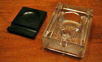 For Sale     Art Deco Press-Mould solid Glass Inkwell